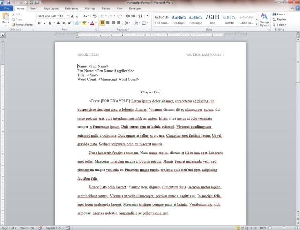 Manuscript Layout